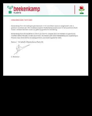 GMO verklaring /statement