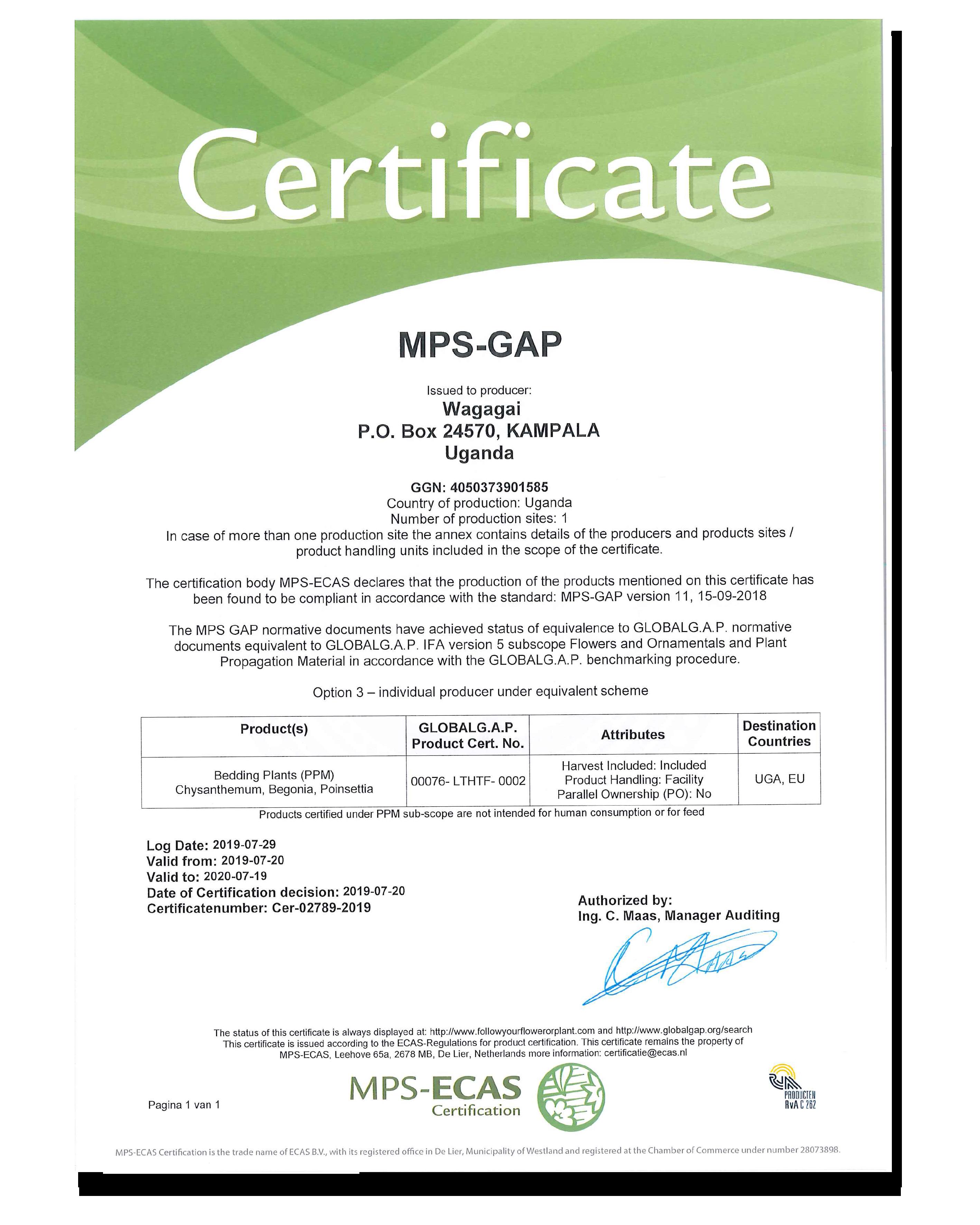 MPS-GAP Wagagai Ltd.