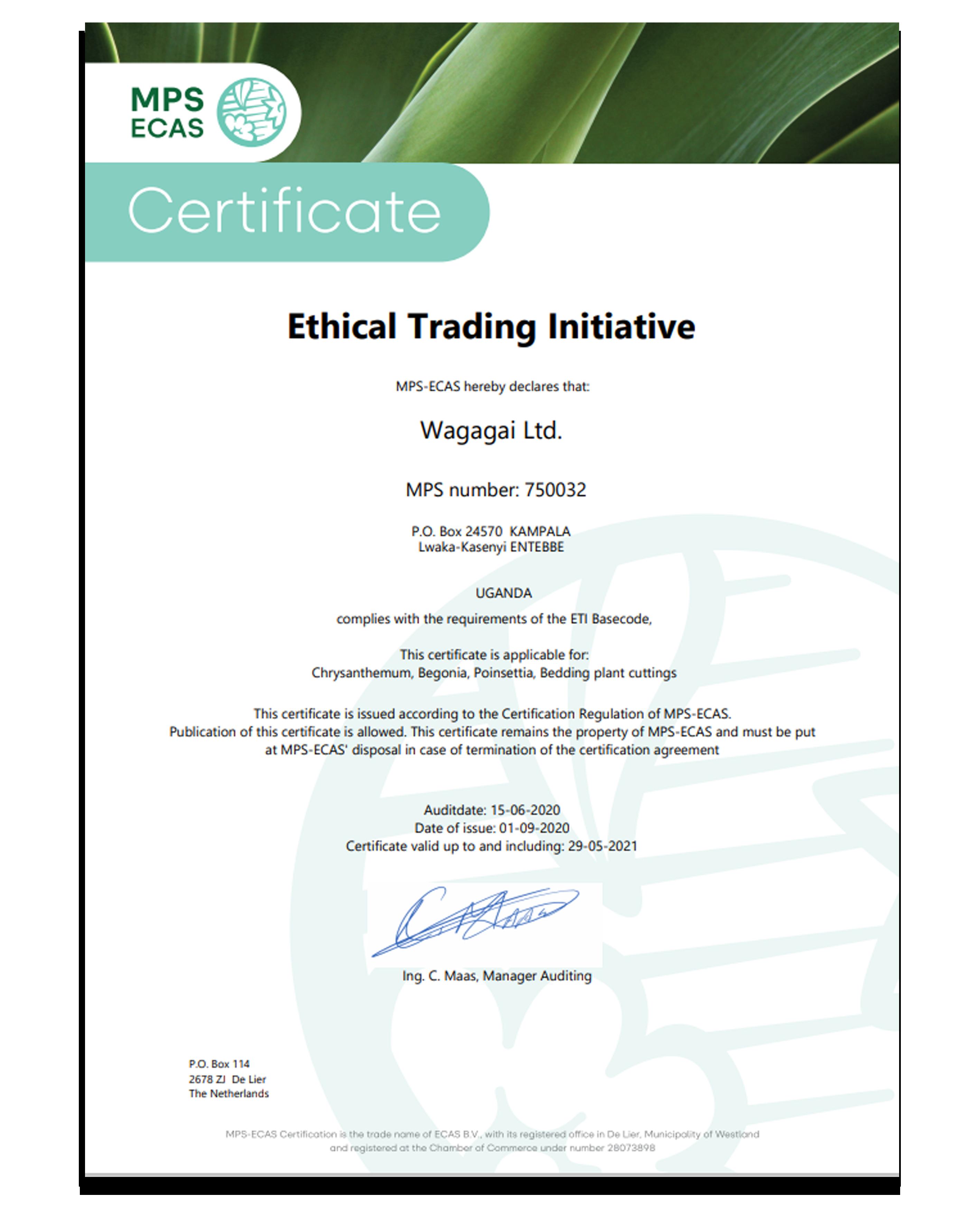 Ethical Trading Initiative Wagagai Ltd.