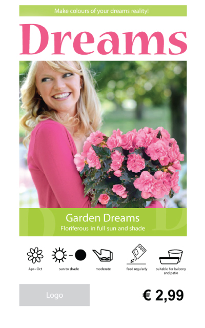 Begonia Garden Price Tag